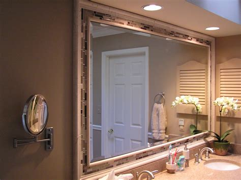 framing a bathroom mirror home ideas collection charm