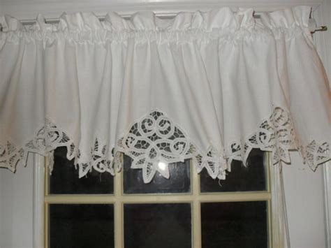 Battenburg Lace Curtains White Shabby Battenburg Lace Valance Country Curtain Lace The O Jays And Country Curtains