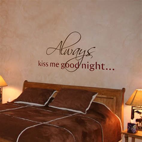 word wall stickers for bedrooms always kiss me goodnight wall words wall decals