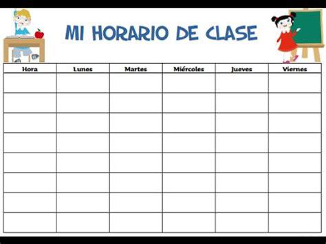 Calendario Maestro Formatos De Horario De Clases Para Imprimir Soy Docente
