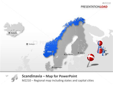 powerpoint map scandinavia presentationload