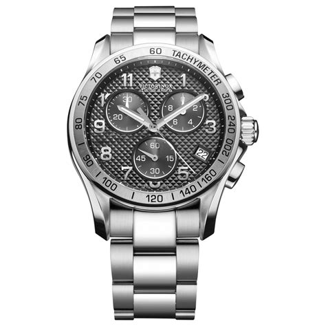 Silver Chrono Aktif 1 victorinox mens chronograph stainless steel bracelet 41mm