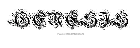 genesis pattern tattoo genesis name tattoo designs