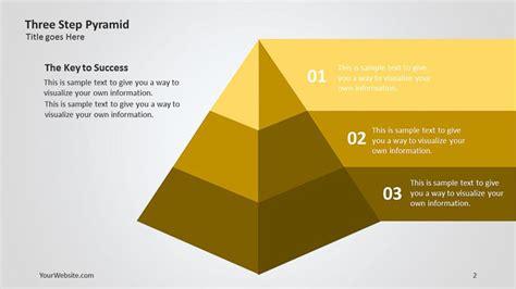 Three Step Pyramid Ppt 3d Diagram Slide Ocean 3d Pyramid Powerpoint Template
