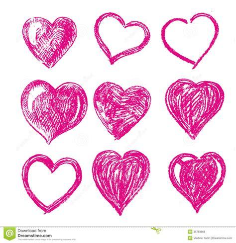 imagenes de corazones dibujados a mano corazones dibujados mano del vector fotos de archivo