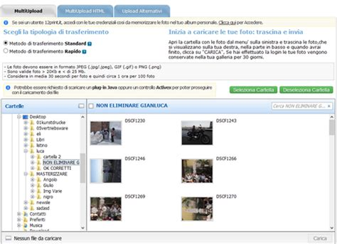 imagenes upload come inviare in sta le tue foto digitali