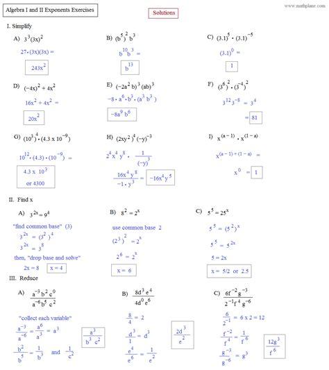 Algebra 2 Worksheets Answers by Practice Alg 2 Math Worksheets With Answers Practice