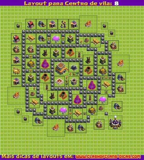 Layout Zuero Cv 8 | layouts para clash of clans centro de vila 8
