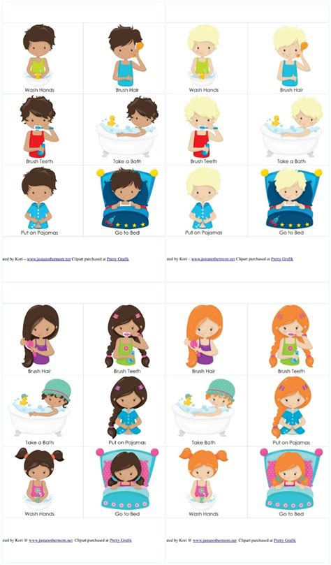 printable toddler routine chart bedtime routine chart and cards bedtime routine and