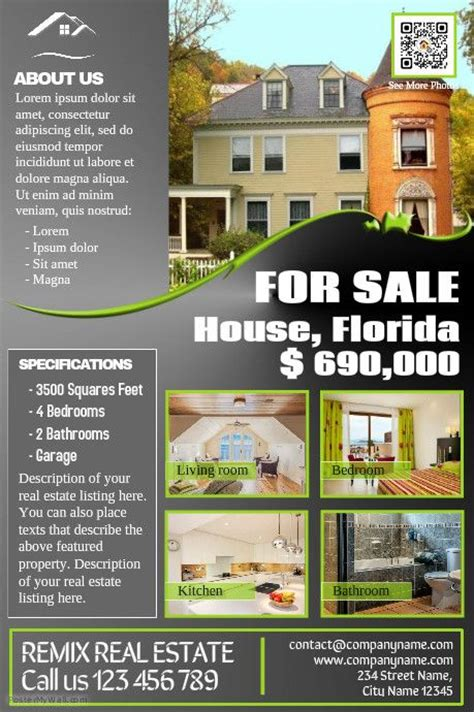 116 Best Images About Real Estate Flyer Diy On Pinterest Property Listing Real Estate Diy Brochure Template