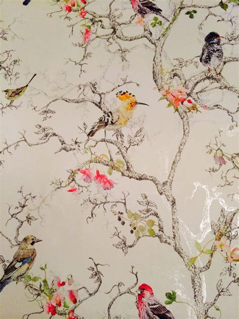 wallpaper designs b q b q wallpaper birds i love this one new house ideas