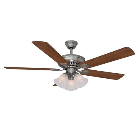 54 contempo led brushed nickel fan with remote hton bay sidewinder 54 in indoor brushed nickel