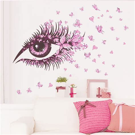 100 art home design japan shirley wall decal tree fairy wall stickers flowers sexy girl eye butterfly love