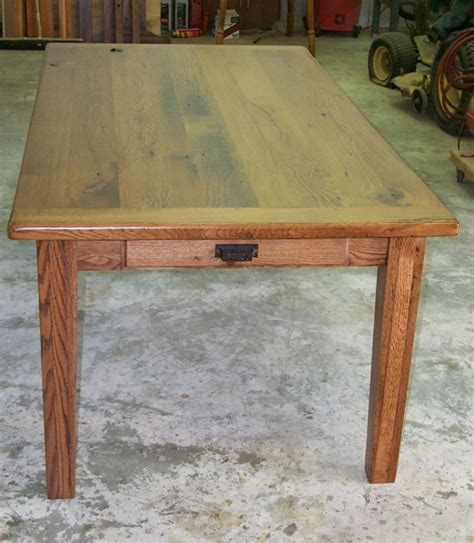 Primitive Dining Tables Oak Harvest Dining Table Rustic Primitive Country Farmhouse Reclaimed Salvaged Ebay