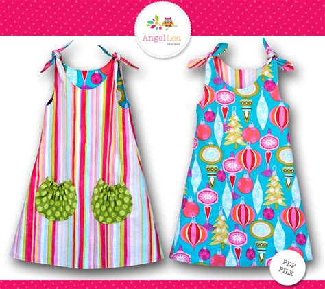 simple pattern for little girl dress tie top dress pattern girls dress pattern pdf sewing pattern