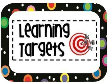 Printable Learning Targets | 17 best images about learning targets on pinterest