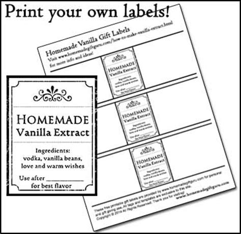 vanilla extract label template how to make vanilla extract the one step method