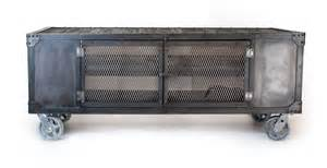 industrial rolling media cabinet tv stand on by jrealfurniture