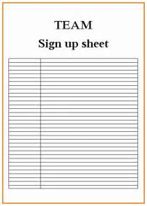 sign writing templates blank sign up sheet exle mughals