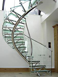 Helical Stairs Design Home Design Transparent Stair