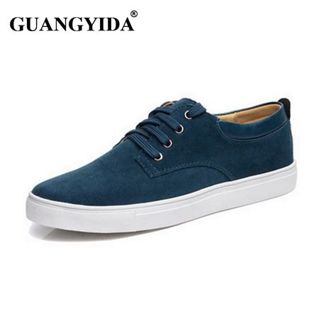 sneaker plus 2016 new shoes genuine leather suede fashion brand