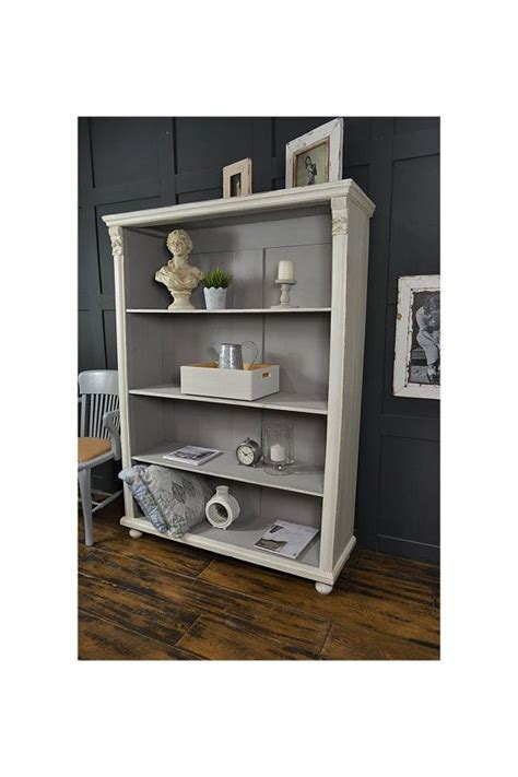 Shabby Chic Bookcase Uk Roselawnlutheran Shabby Chic White Bookcase