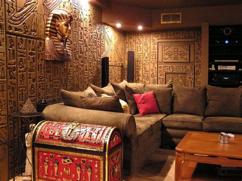 egyptian decorations for home egyptian theme home egyptian tomb home theater photos
