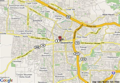 map of oregon beaverton map of comfort inn and suites west beaverton beaverton