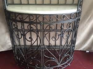 Wrought Iron Bakers Rack With Glass Shelves Letgo Bakers Rack Wrought Iron S In Parkland Fl