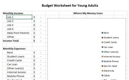 Sle Household Budget Forms Budget Template For Adults