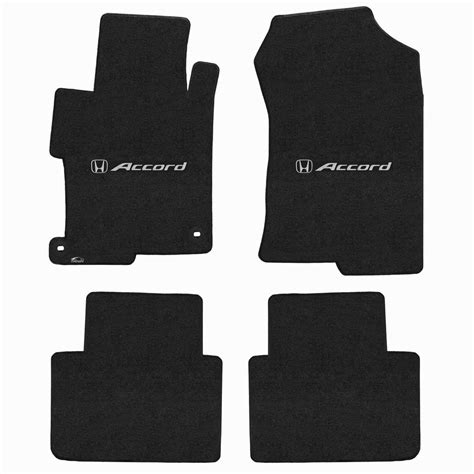 2013 2016 honda accord logo lloyd velourtex 4 piece floor mat set ebony 620159