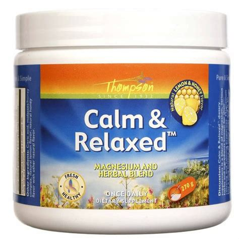 Lemon Detox Diet Relaxed Version Reviews by Thompson Calm And Relaxed Lemon Honey 9 5 Oz