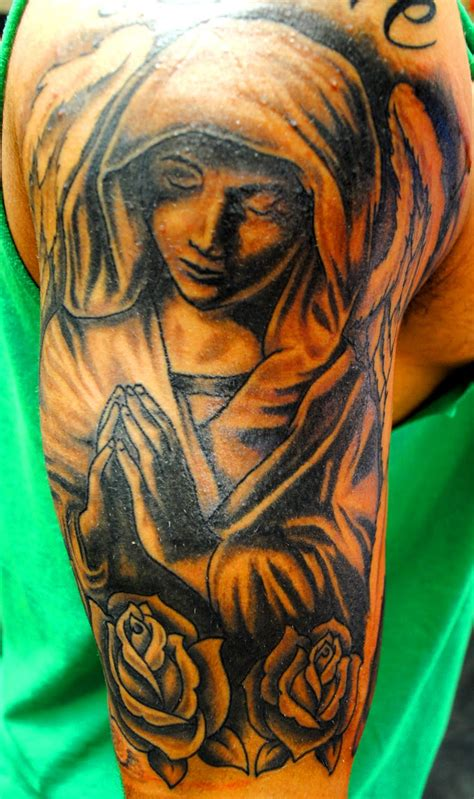 praying angel tattoo atomik new work