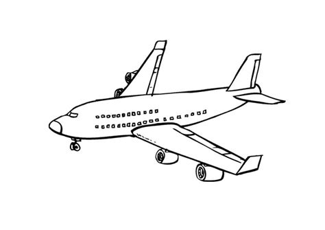 Kleurplaat Vliegtuig Afb 9673 The Jet Plane Coloring Pages