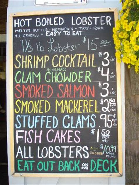 roy moore lobster company rockport ma menu picture of roy moore lobster company rockport