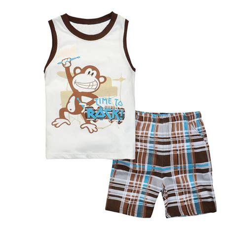 T Shirt Set 2016 summer pajamas sets boys t shirt tees cotton