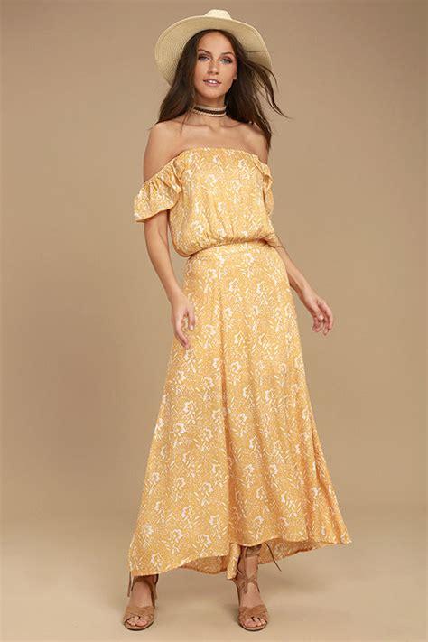 yellow patterned skirt amuse society shiva yellow floral print skirt maxi