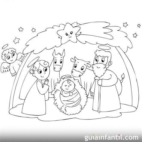 dibujos navideños para colorear portal belen pin pon era un mu 241 eco v 237 deo y canci 243 n infantil