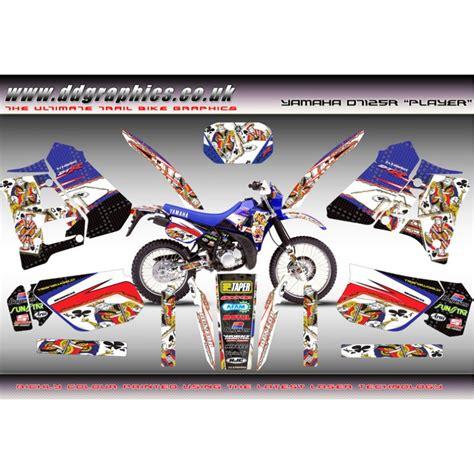 Yamaha Dt 125 X Aufkleber by Yamaha Dt125 R Quot Player Quot Graphic Kit Blue