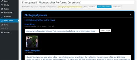 News Section Website Design by Photography Web Design For Julie Watts Photo Web Design