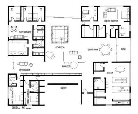 Bath Floor Plans by Hand Drafting Eero Saarinen S Miller House On Behance