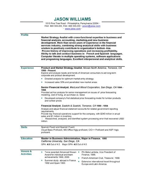 templates of cv personal statements curriculum vitae personal statement sles http