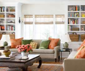 Neutral Living Room With Pops Of Color by Bhg Centsational Style