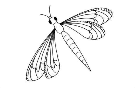 Dragonfly Outline Template by 18 Dragonfly Templates Crafts Colouring Pages Free Premium Templates