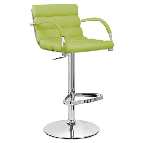 Green Bar Stools Lime Green Ego Adjustable Height Swivel Bar Stool With