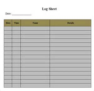 log in template log sheet template 9 free documents in pdf