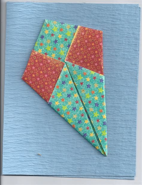 How To Make Kite Paper Flowers - dorothy s origami kite card a by kath kathy harney