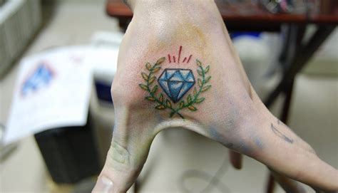 diamond tattoo on hand meaning hand diamond tattoo