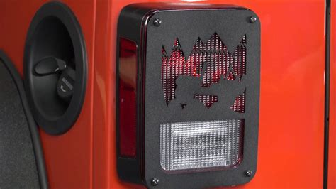 jeep wrangler tail light covers kentrol jeep heritage tail light covers for jk wrangler