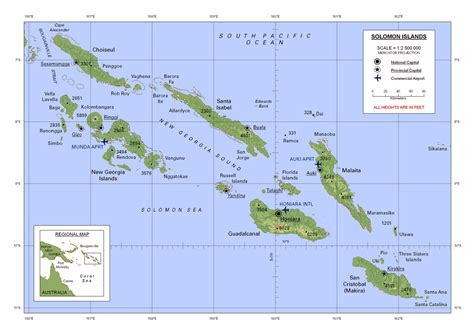 solomon islands map large detailed map of solomon islands with all cities and airports vidiani maps of all